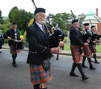 Milton Keynes Pipe Band at Bletchley Park